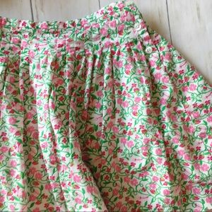 Lilly Pulitzer Bottoms - Lilly Pulitzer White Green Pink Floral Print Skirt